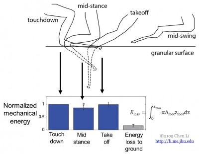 Granular Media Foot Use